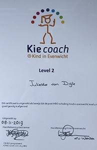 Juliette van Dijk Diploma Kie Coach
